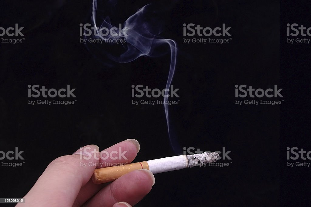 Smoking royalty-free stock photo
