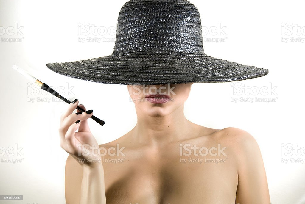 smoking royalty-free stock photo
