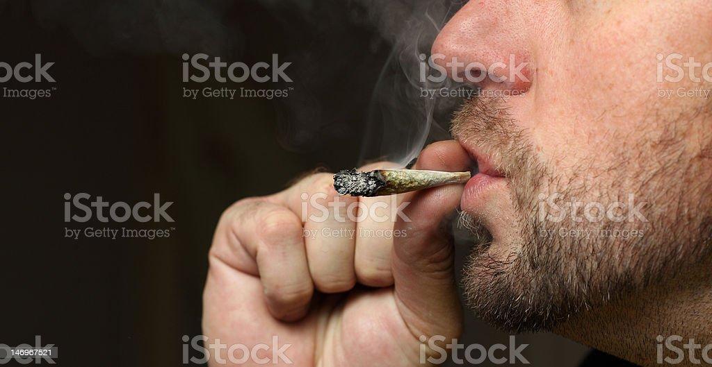 smoking pot stock photo