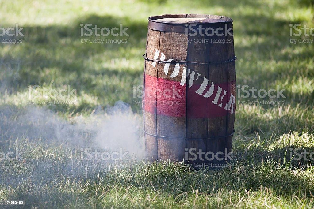 Smoking Powder Keg (XXL) royalty-free stock photo
