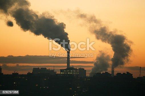 istock Smoking power plant 526297088