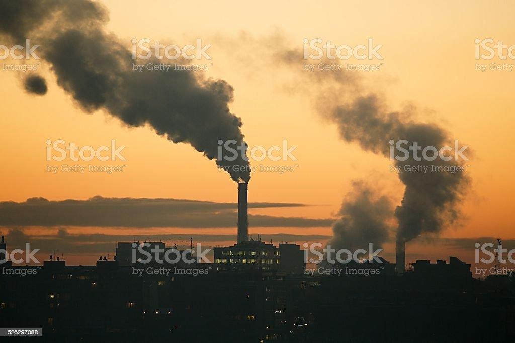 Fumatori centrale elettrica - foto stock