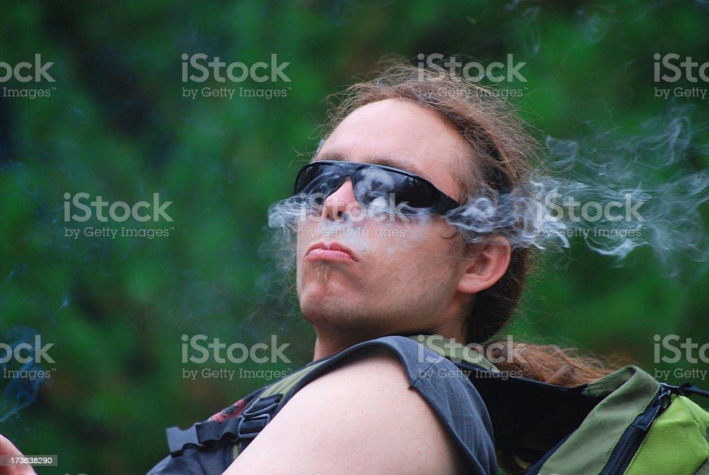 smoking rocker royalty-free stock photo