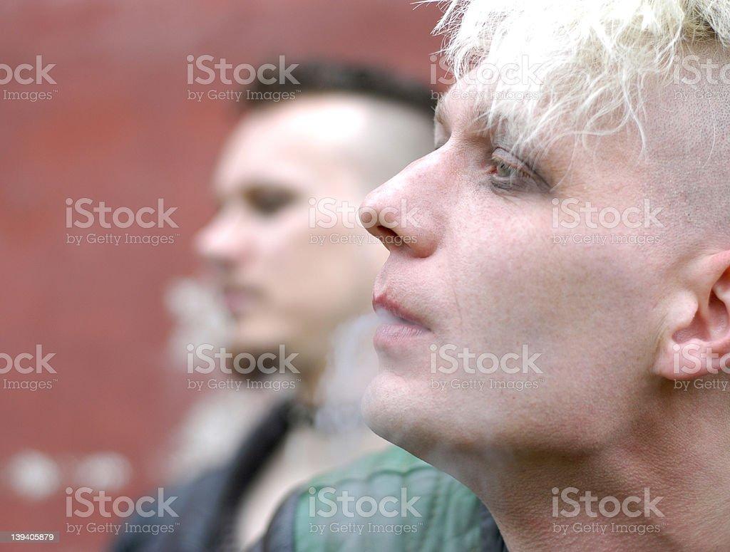 smoking series: II stock photo