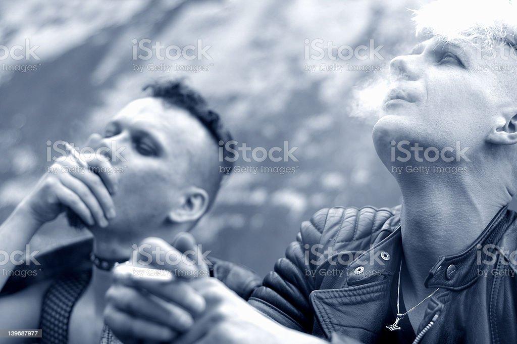 smoking series: VI stock photo