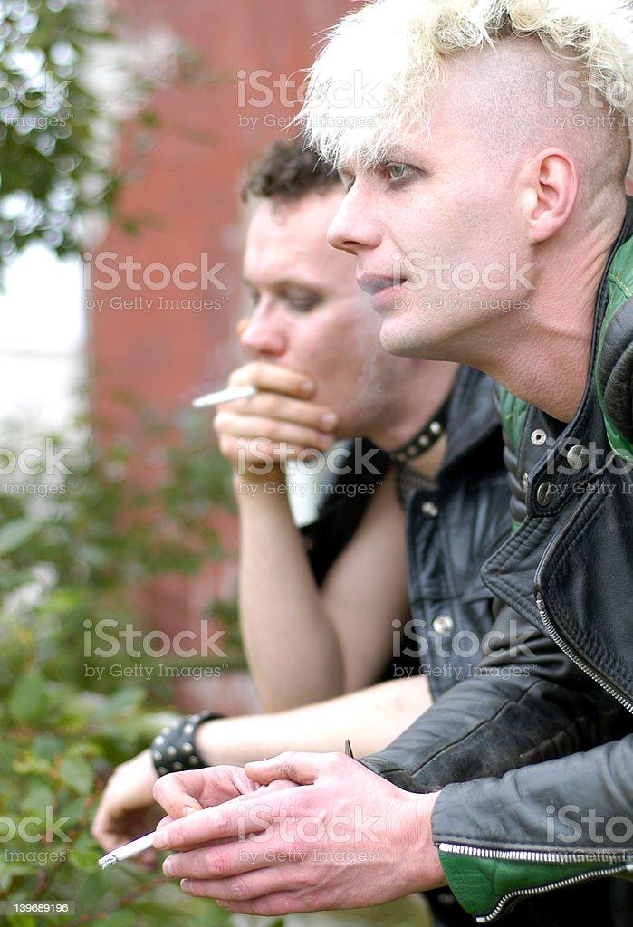 smoking series: VII stock photo