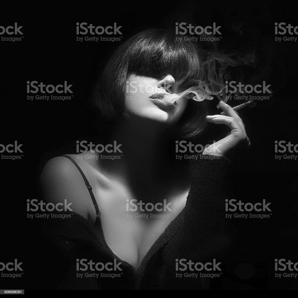 Smoking. Smoke stock photo