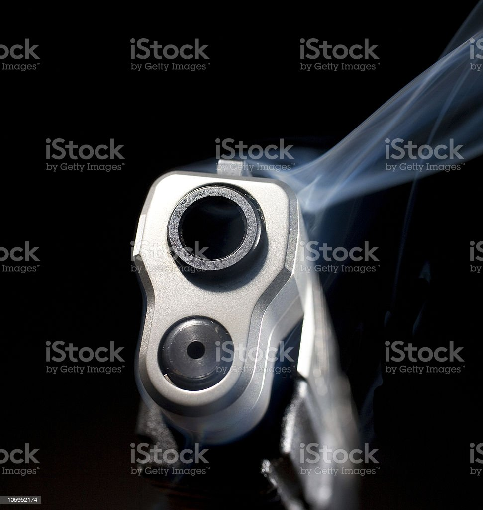Smoking weapon royalty-free stock photo