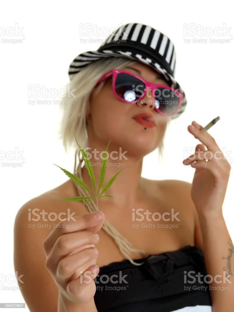 Smoking weed royalty-free stock photo