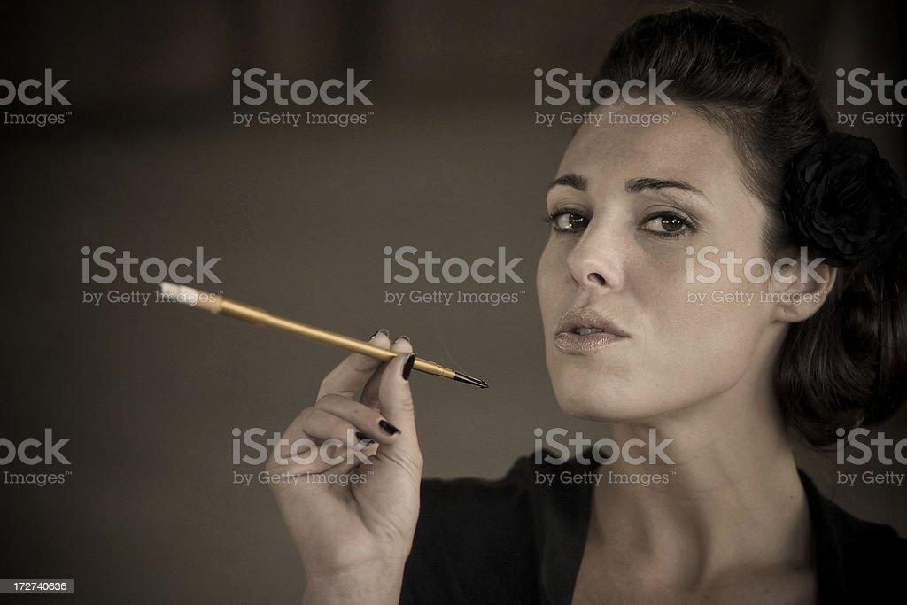 smoking with style stock photo