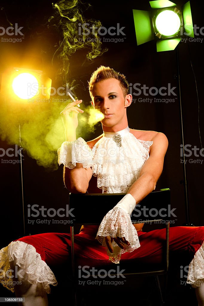 Smoking Young Actor royalty-free stock photo