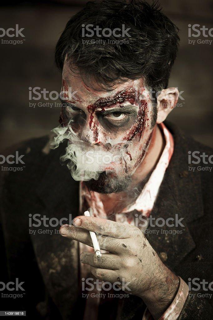 Smoking Zombie royalty-free stock photo