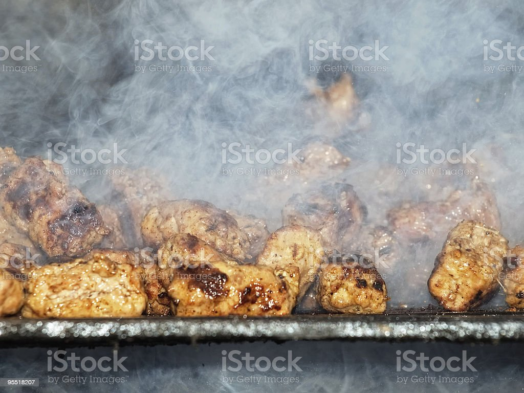 Smoky barbecue royalty-free stock photo