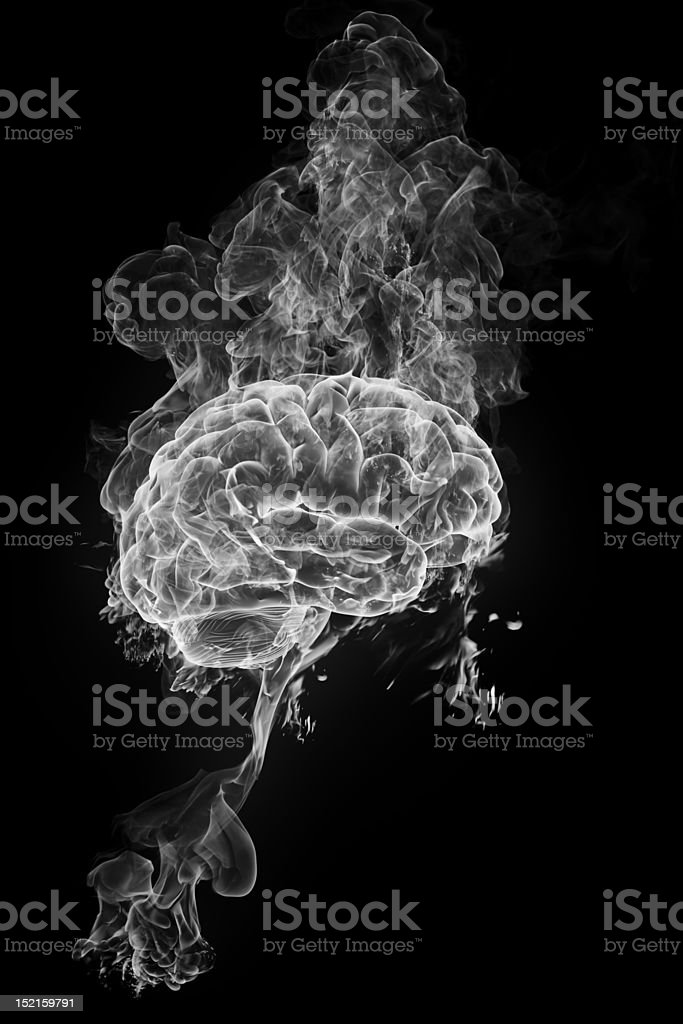 smoky brain stock photo
