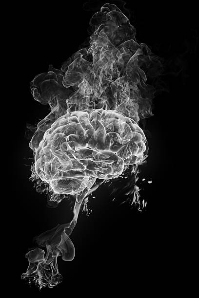 smoky brain stock photo