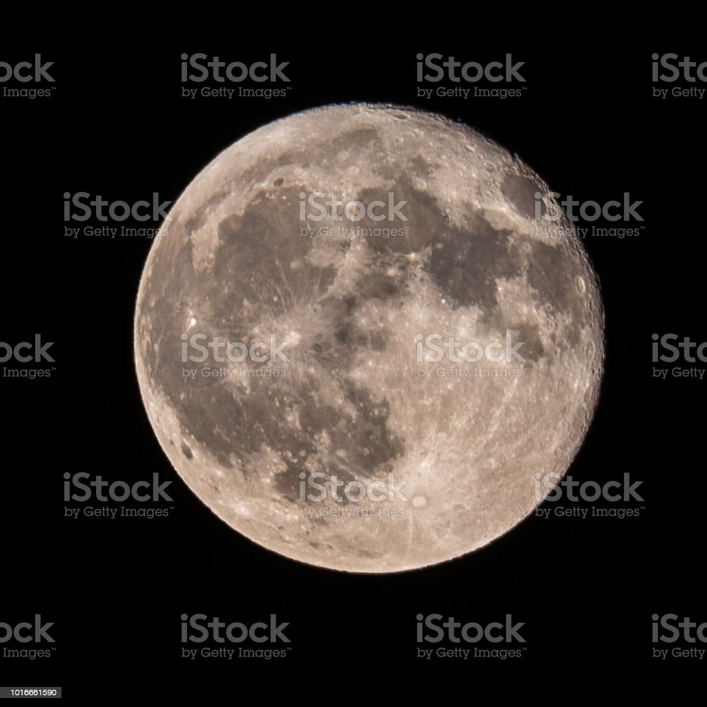 Smoky Moon stock photo