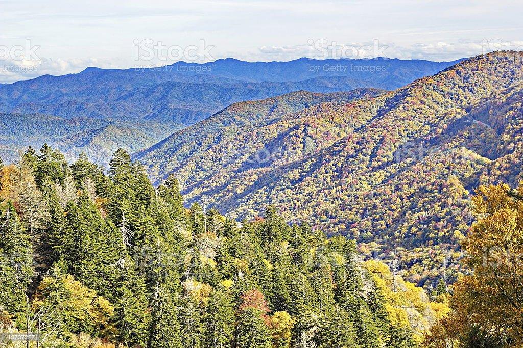 Smoky Mountain Autmn Vista stock photo