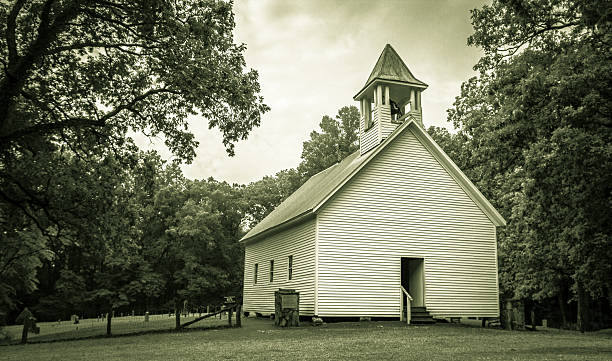 Smoky Mountain Chapel stock photo