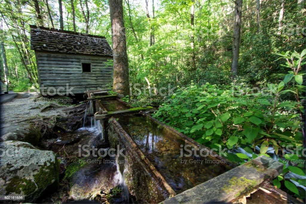 Smoky Mountain Mill stock photo