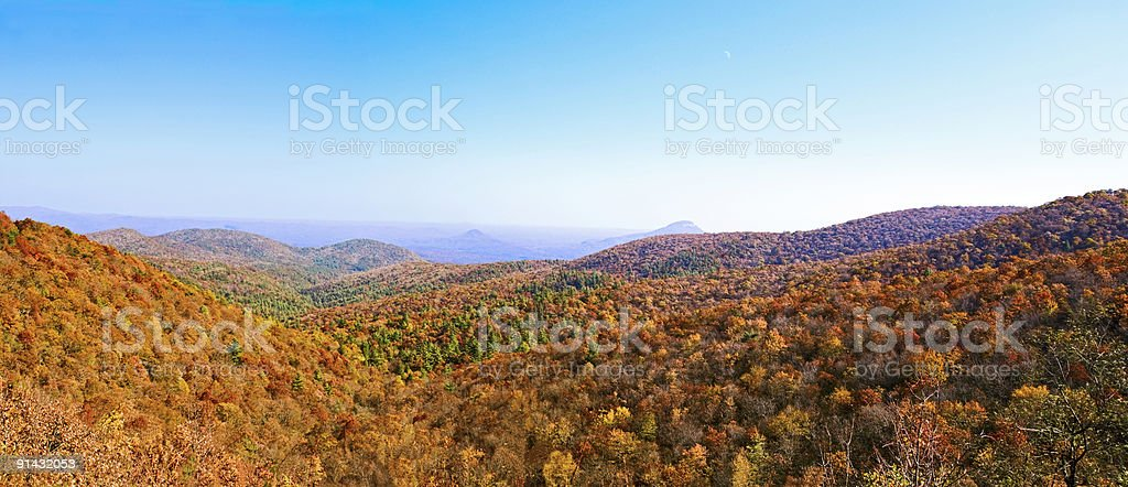 Smoky Mountain National Park as seen from north Georgia royalty-free stock photo