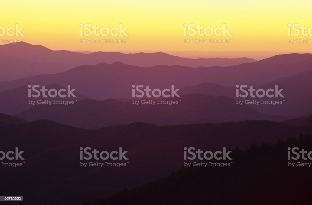Smoky Mountain Ridges royalty-free stock photo