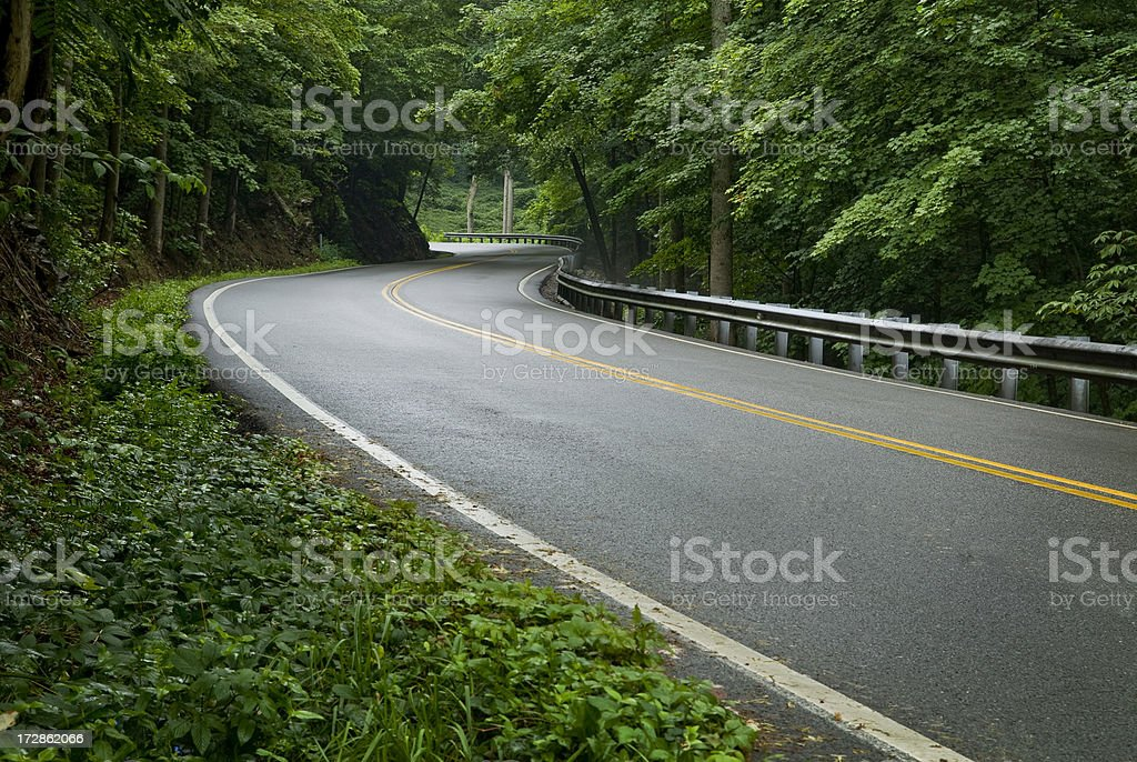Smoky Mountain Road royalty-free stock photo