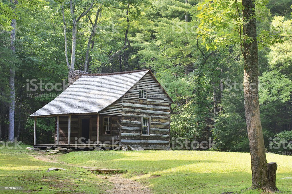 Smoky Mountain Settlers Cabin royalty-free stock photo