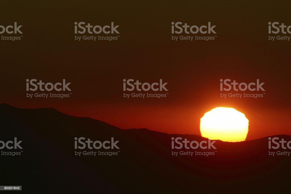 Smoky Mountain Sunset royalty-free stock photo
