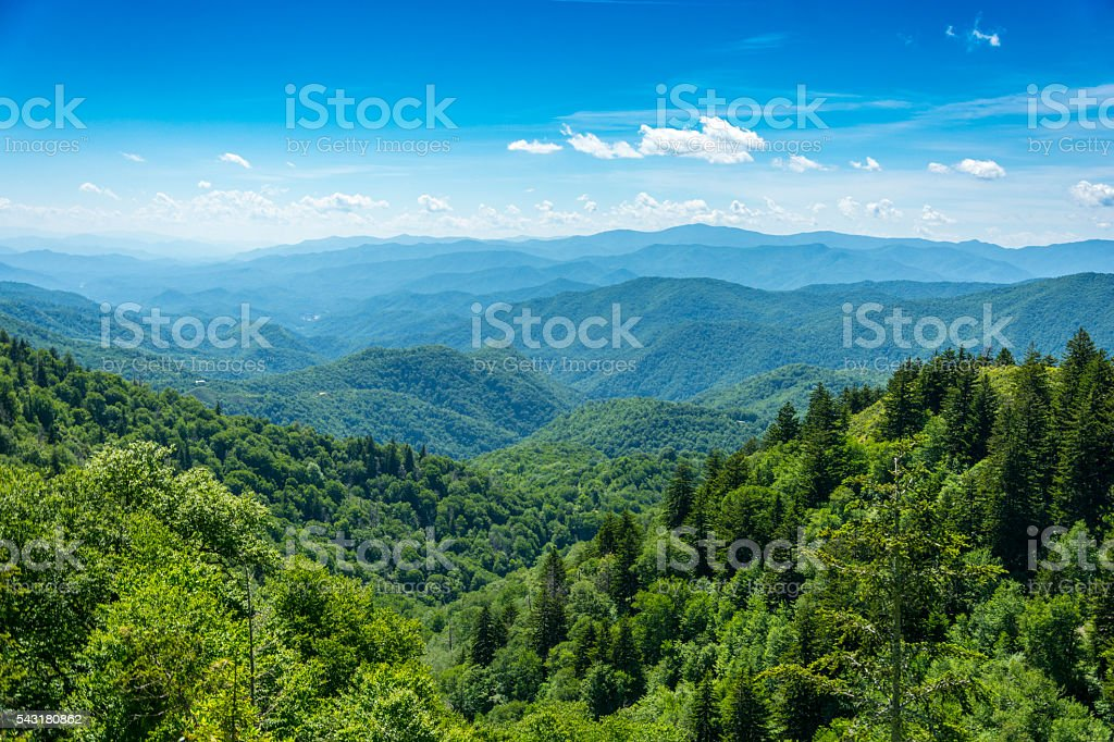 Smoky Mountain Valley View - foto de acervo