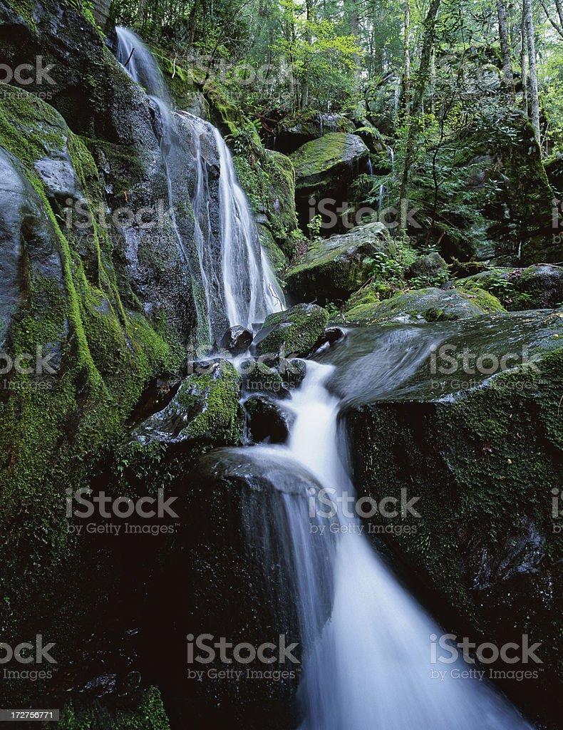 Smoky Mountain Waterfall royalty-free stock photo