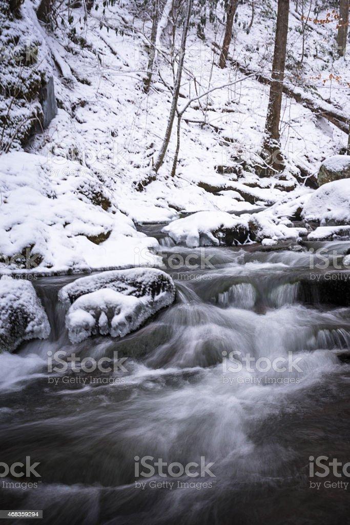 Smoky Mountain Winter Stream 3 royalty-free stock photo