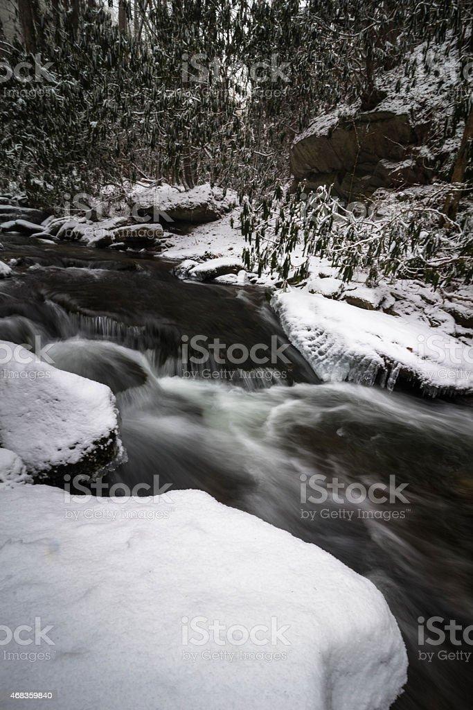 Smoky Mountain Winter Stream royalty-free stock photo