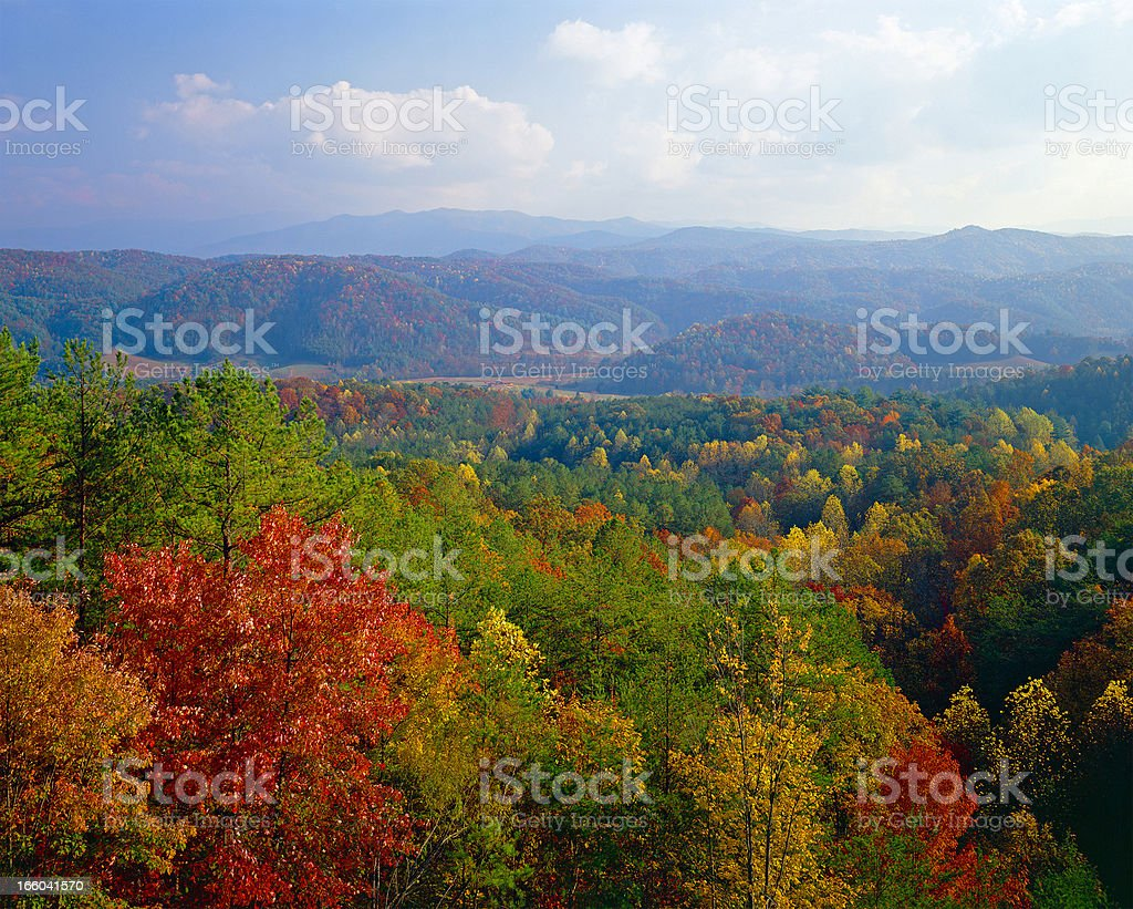 Smoky Mountains autumn stock photo