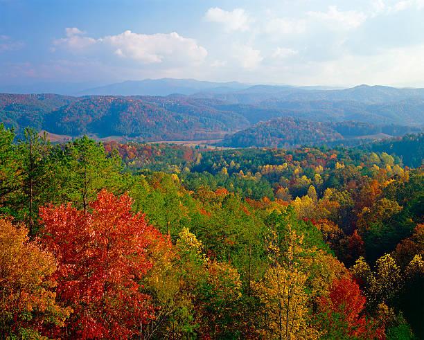 Smoky Mountains autumn stock photo