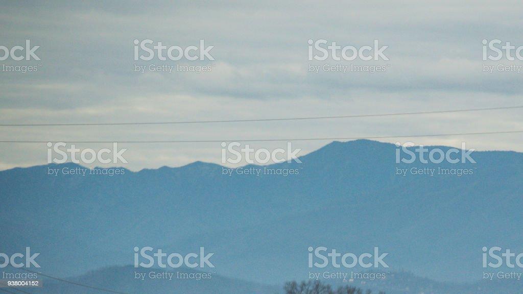 Smoky Mountains - Hazed View stock photo