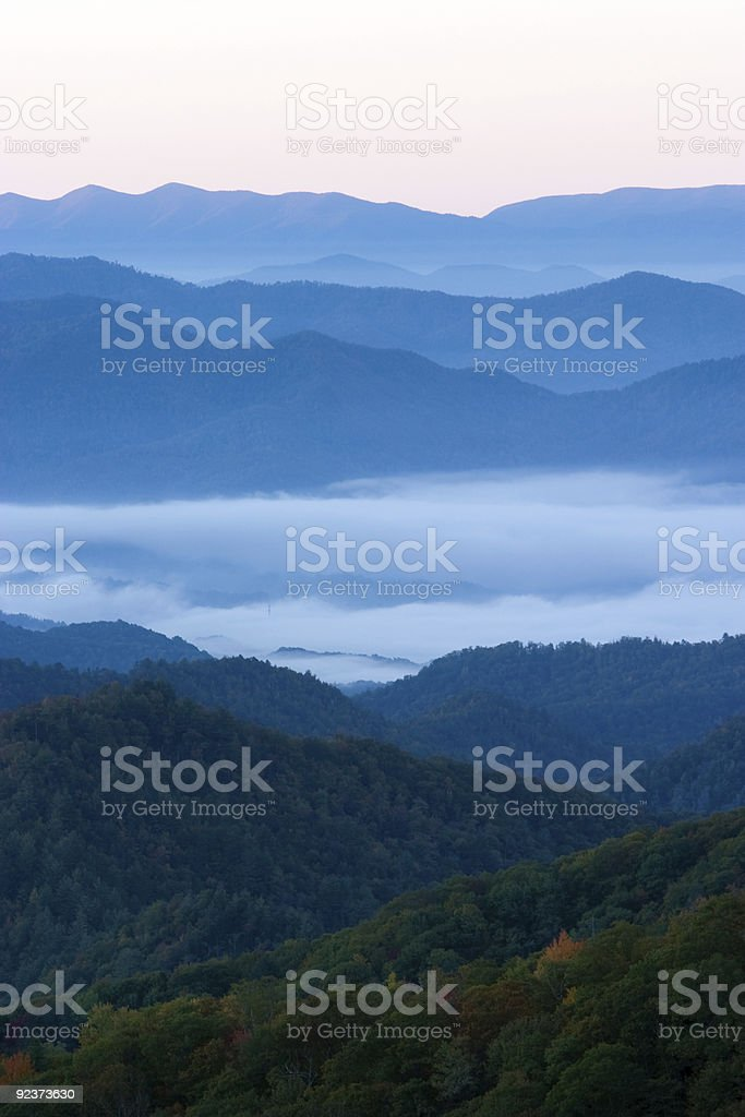 Smoky Mountains in the Fall royalty-free stock photo