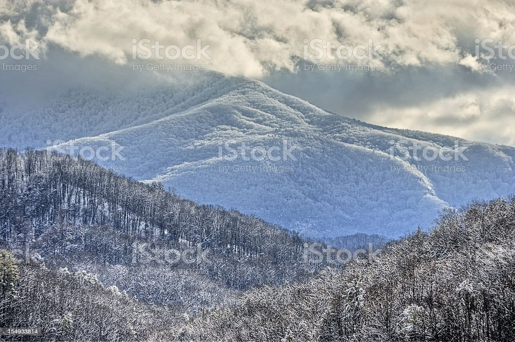 Smoky Mountains in Winter royalty-free stock photo