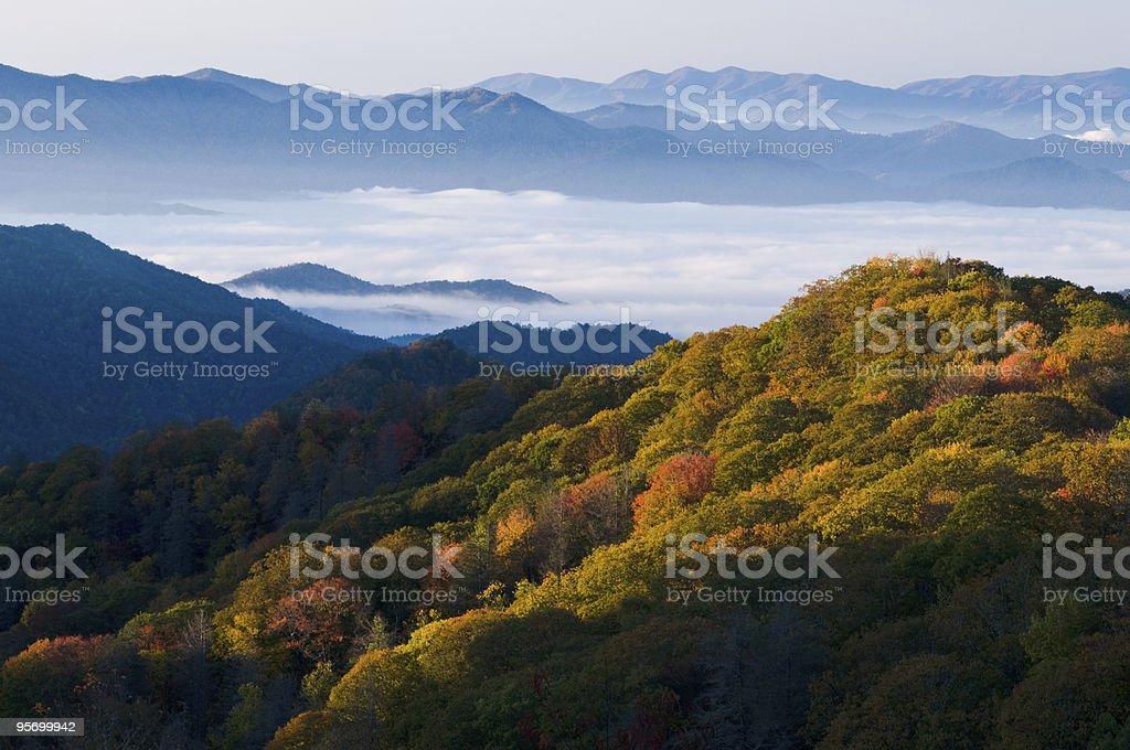Parque nacional de las Montañas Great Smoky foto de stock libre de derechos