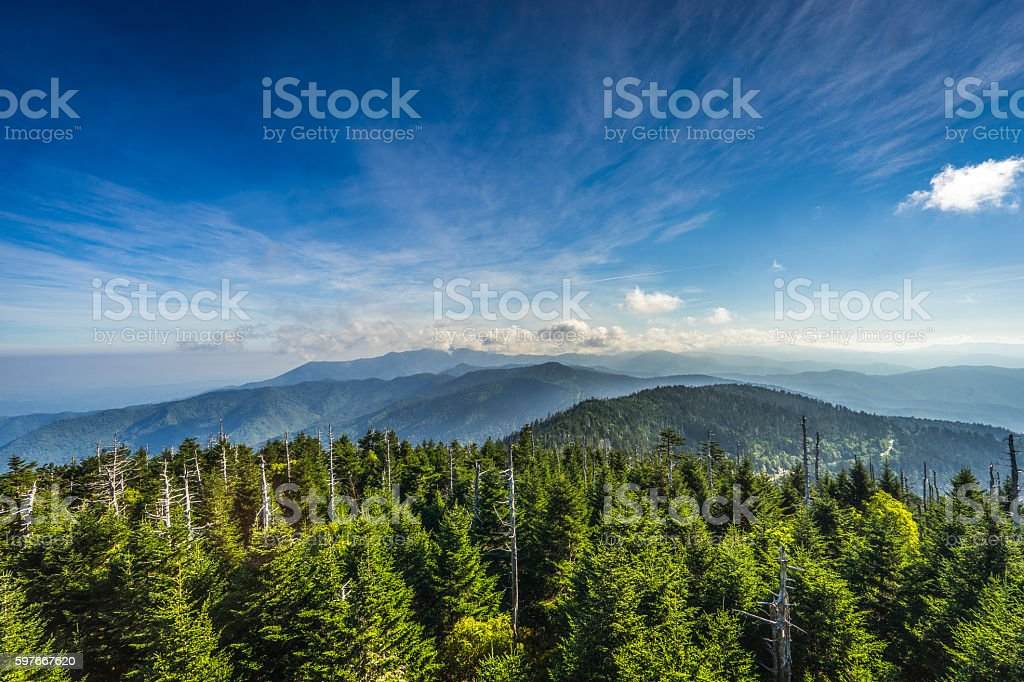 Smoky Mountains stock photo