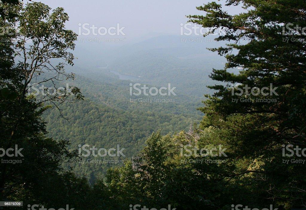 Smoky montagne foto stock royalty-free