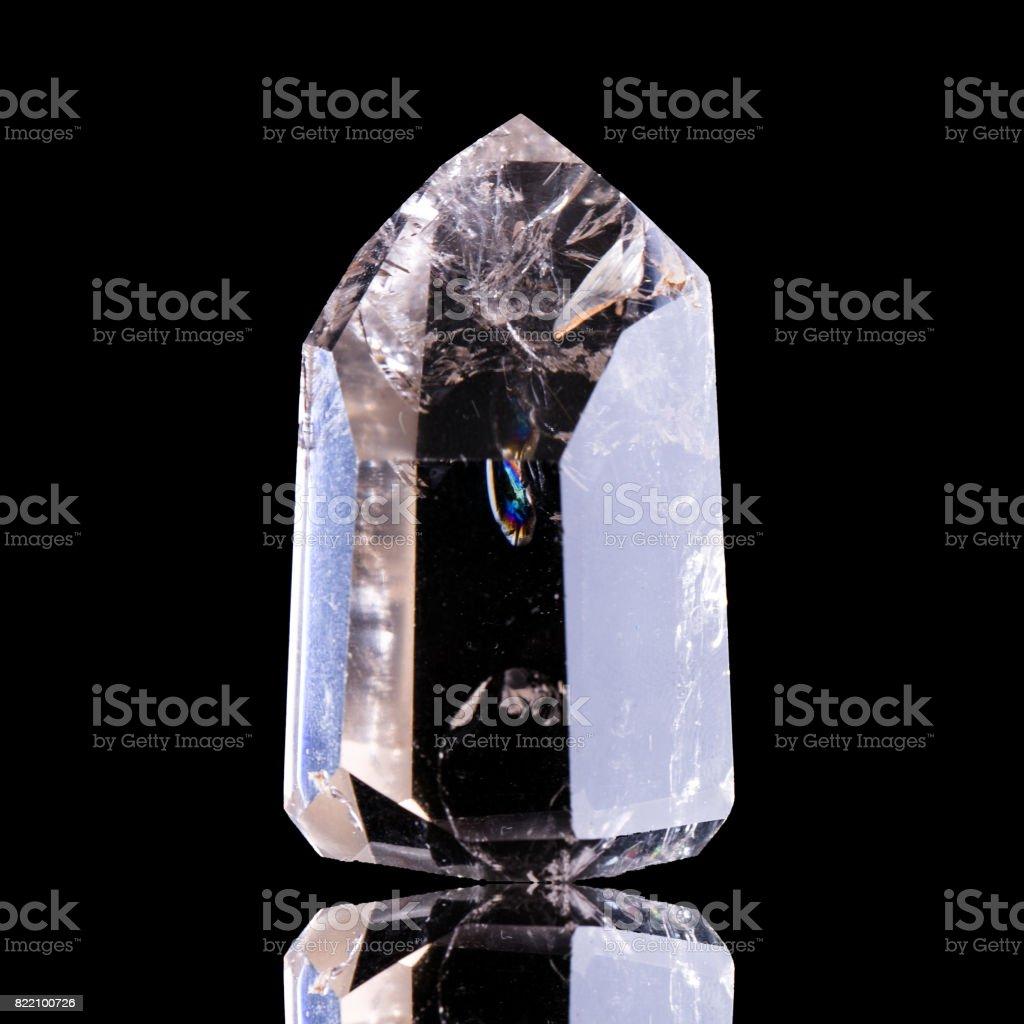Smoky quartz isolated on black stock photo