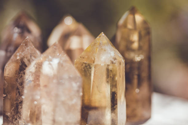 Smoky quartz Healing crystals crystal healing stock pictures, royalty-free photos & images