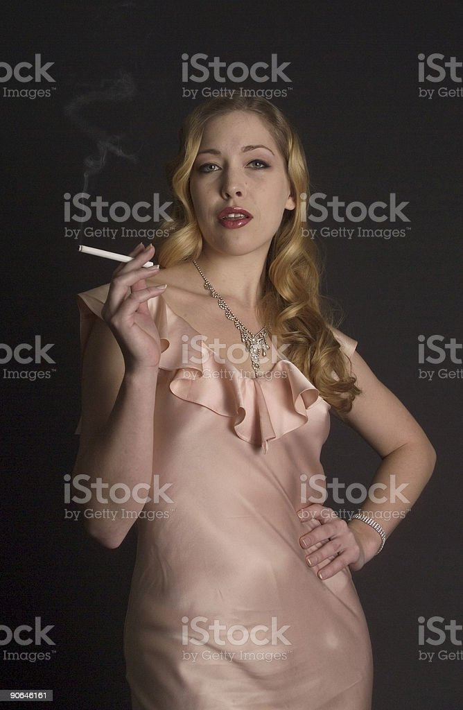Smoky Sexy Party Girl Royalty Free Stock Photo