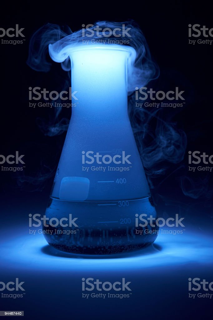 smoky test tube royalty-free stock photo