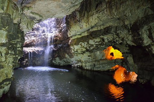 Smoo Cave Durness Scotland Stock Photo - Download Image Now