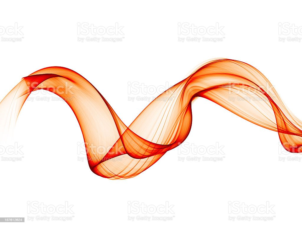 smooth abstract red smoke-like curves stock photo