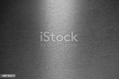 istock Smooth brushed metallic texture 496790072