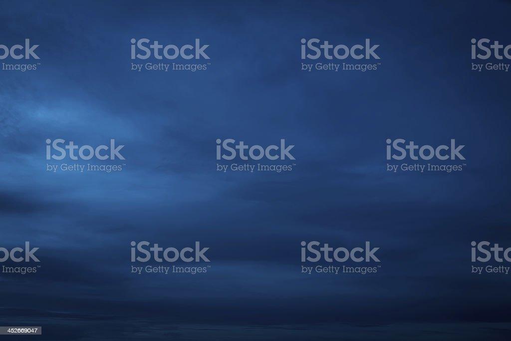Smooth Dark Blue Sky stock photo