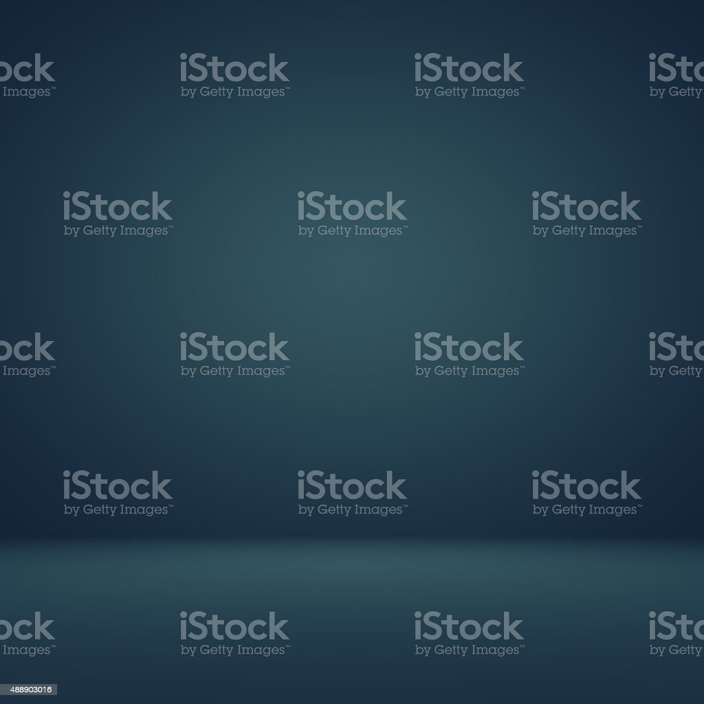 Smooth Dark blue with Black vignette Studio well use stock photo