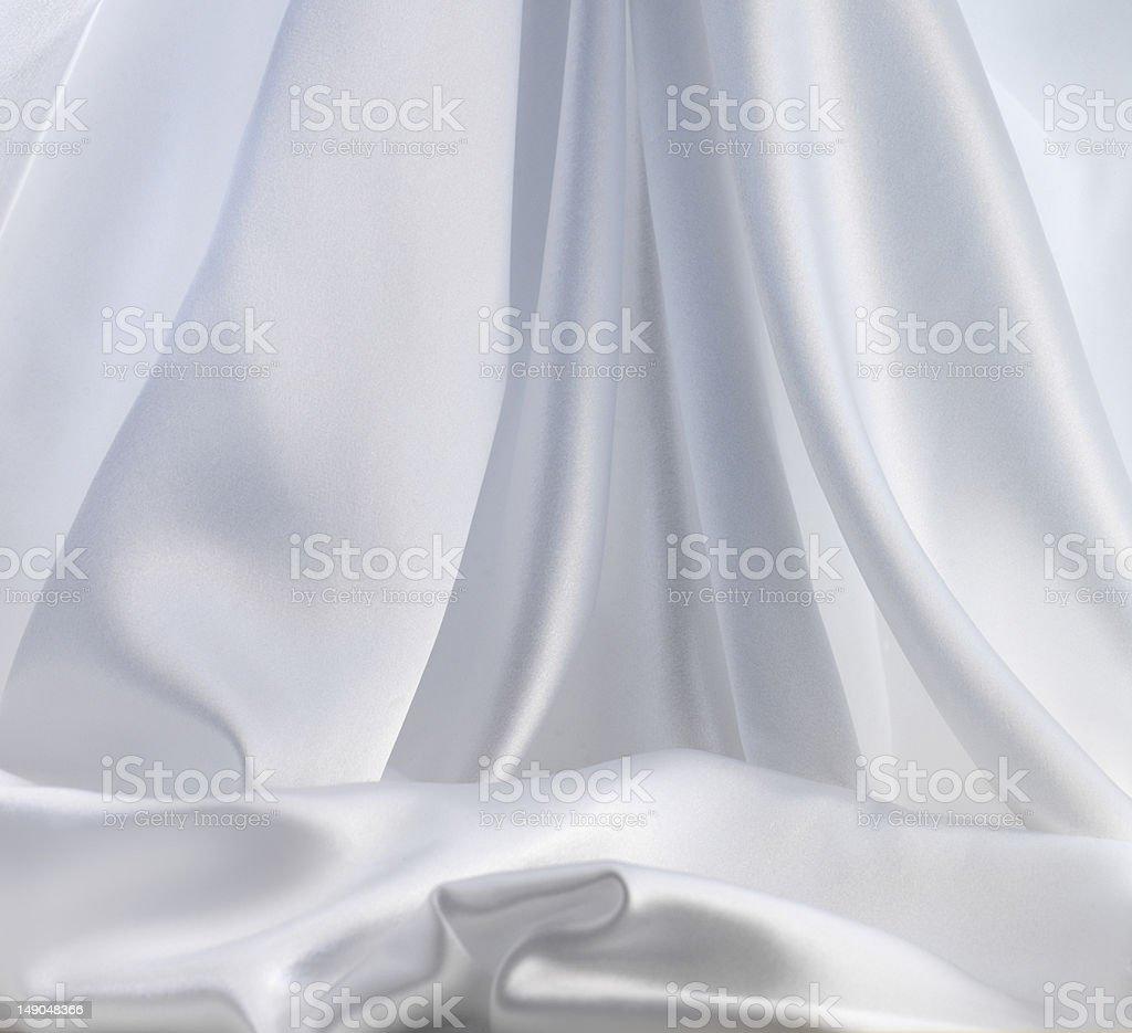 Smooth elegant white silk royalty-free stock photo